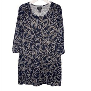 NWT Papillon 3/4 sleeve printed tunic dress
